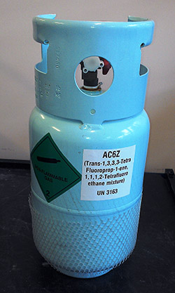 Photo of Mexichem's AC6 refrigerant passes SAE tests
