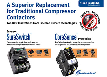 """Emerson's new literature on its specally designed """"bug-proof"""" contactors"""