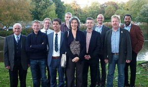 The participants fro across Europe meet during formal discussions in London recently