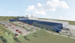 Ebm-Papst is investing €15m to double production in Mulfingen-Hollenbach (blue area)