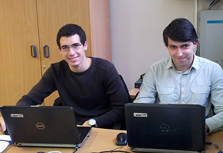 Tiago Gomes and Nuno Alves from Portugal who have joined J&E Hall as internees