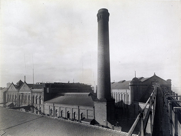 Factory with chimney