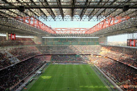 The Fujitsu brand will be in  evidence at AC Milan's home ground, the San Siro stadium.