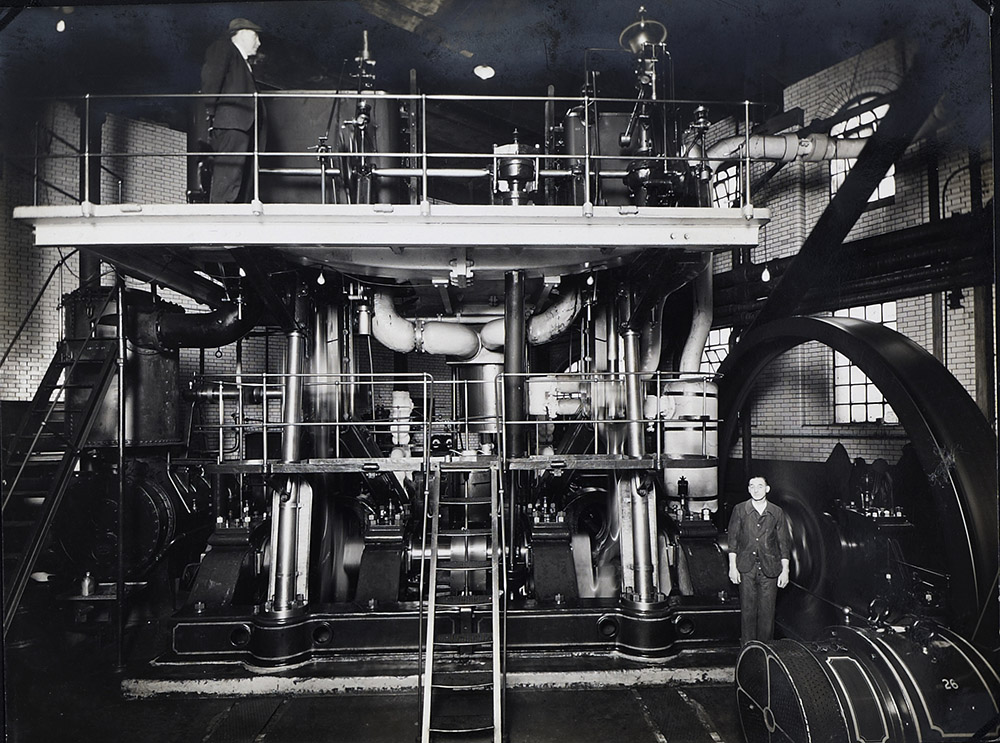 Original Linde steam-driven compressor