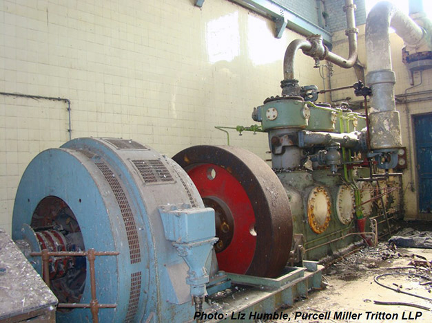 """The """"forgotten"""" fifth J&E Hall compressor installed in the early 1950s"""