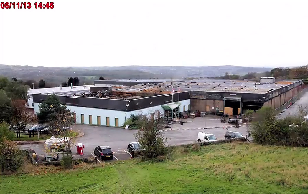 The Airedale factory last year after the fire