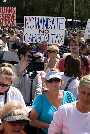 The carbon tax was not popular with many Australian citizens