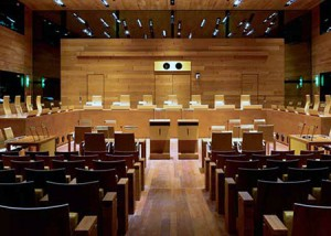 Court room European Court of Justice