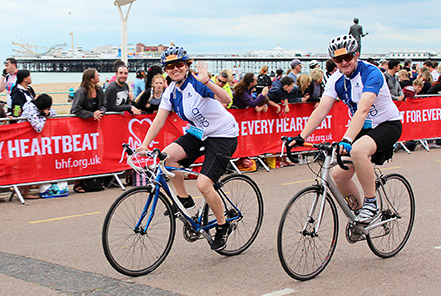 Photo of AMP charity cyclists raise over £7,000