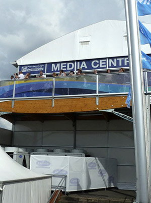 Carrier chillers at the media show