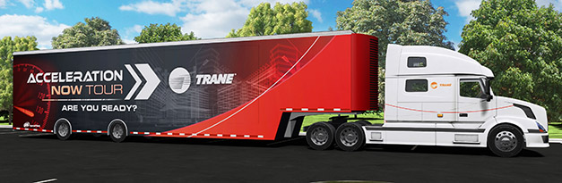 The Trane truck ready for its US tour
