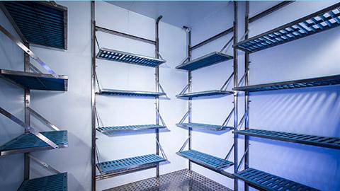 Photo of Foldaway cold room shelving