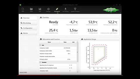 Photo of Bitzer video explains service tool