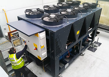 Commissioning-one-of-the-propane-chillers-on-site