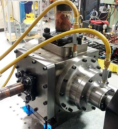 TORAD-40-Ton-Spool-Compressor-on-Test-Stand