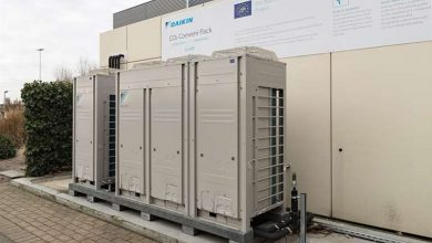 Photo of Daikin CO2 Conveni-Pack uses new swing compressor