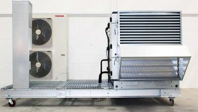 Photo of Skid-mounted AHU and DX condenser