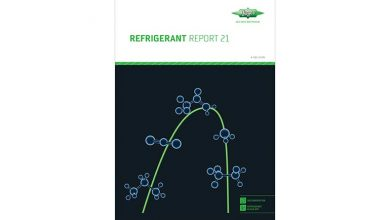 Photo of Refrigerant Report lists new Honeywell and Daikin refrigerants