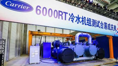 Photo of Carrier China opens 6000RT chiller test lab