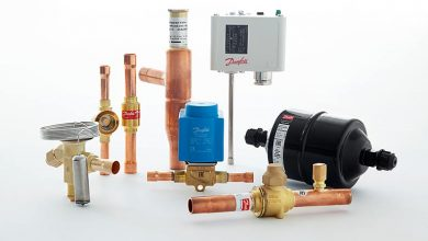 Photo of Danfoss components cleared for A2L refrigerant trio