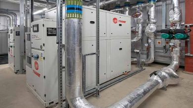Photo of Trane R1234ze heat pumps in pioneering wastewater scheme
