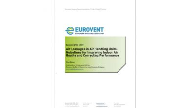 Photo of Eurovent publishes air leakage recommendations