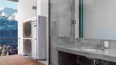 Photo of Panasonic monobloc heat pump on R32